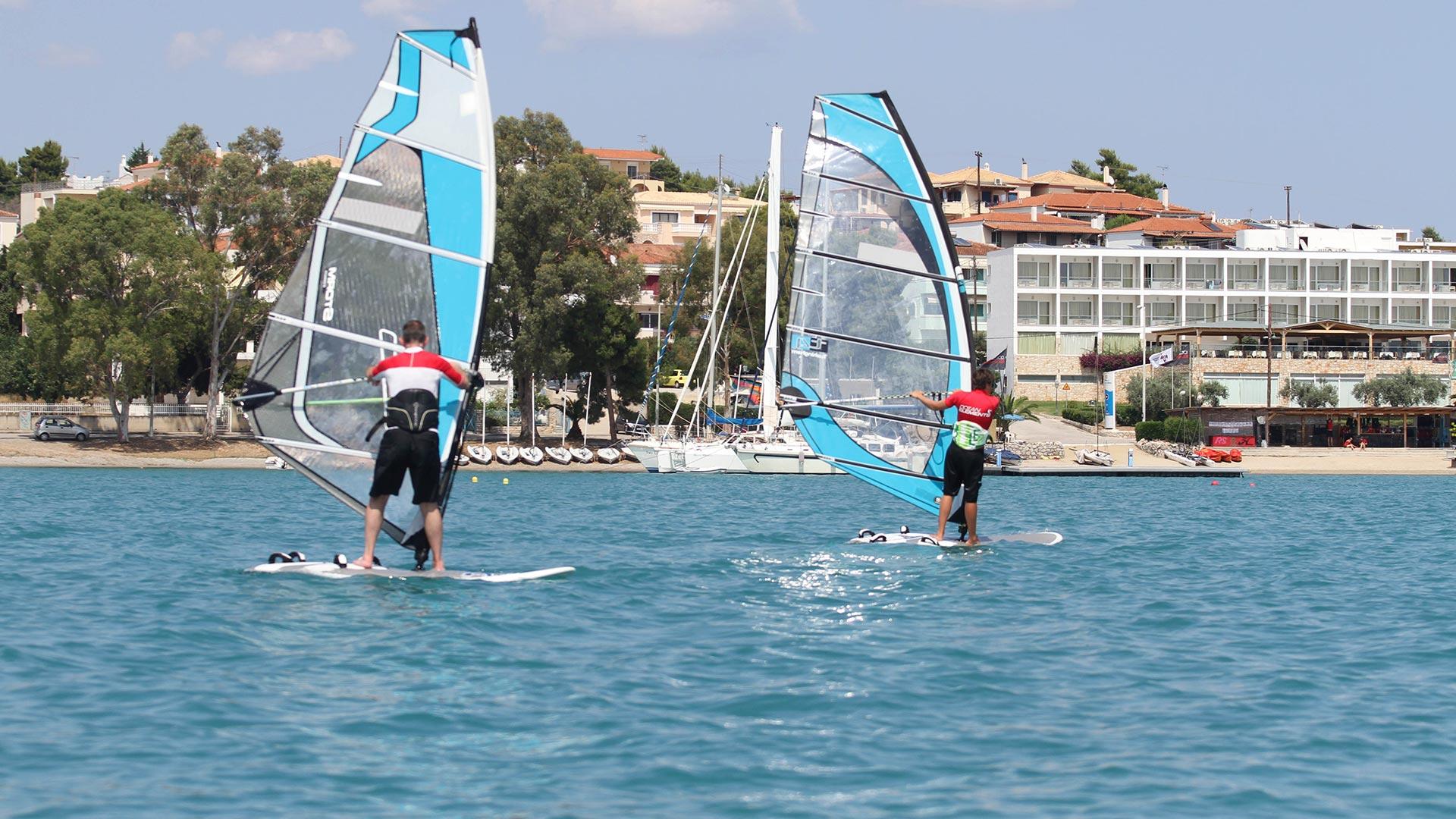 Windsurfing at Porto Heli